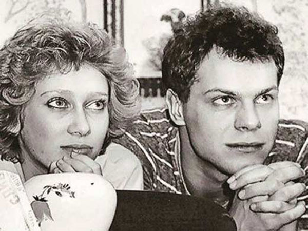 С первым мужем Алексеем Кортневым
