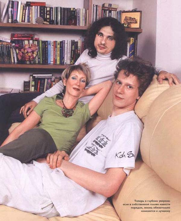 С Леонидом Головановым и сыном Артемием от первого брака