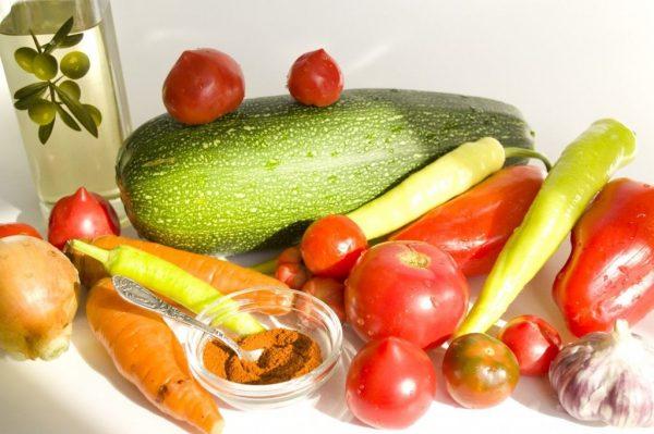 Овощи для запеченной икры