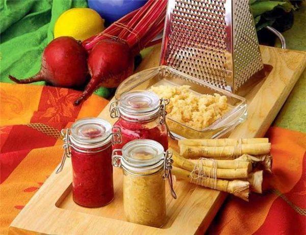Корень хрена широко используется в кулинарии