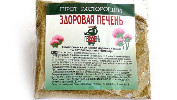 Шрот расторопши для здоровья печени и кишечника