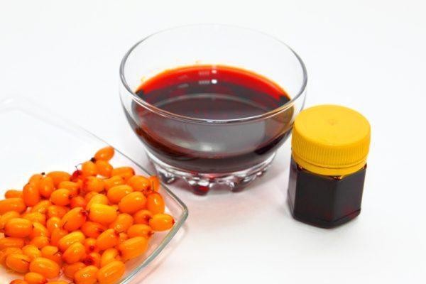 В масле облепихи содержится большое количество витаминов