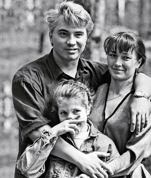 С первой женой Светланой и дочерью
