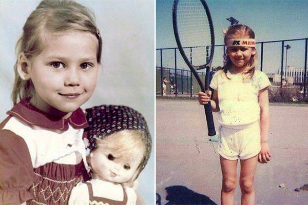 Анна Курникова в детстве