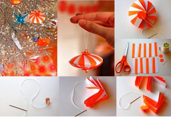 Как сделать раздвижные шары из бумаги