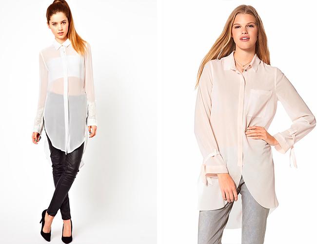 Блузки с макси длиной
