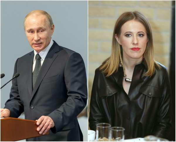 Ксения опровергла слух о том, что Владимир Путин является ее крестным отцом