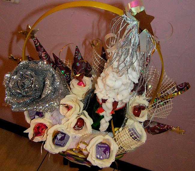 Новогодний декор корзины