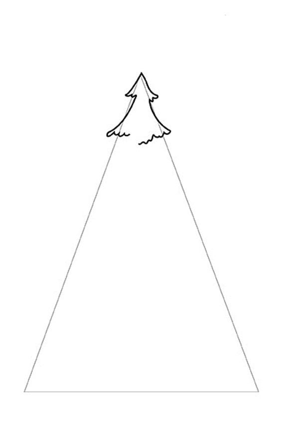 Как нарисовать пушистую ель фото 2