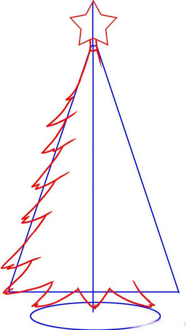Как нарисовать маленькую елочку фото 2
