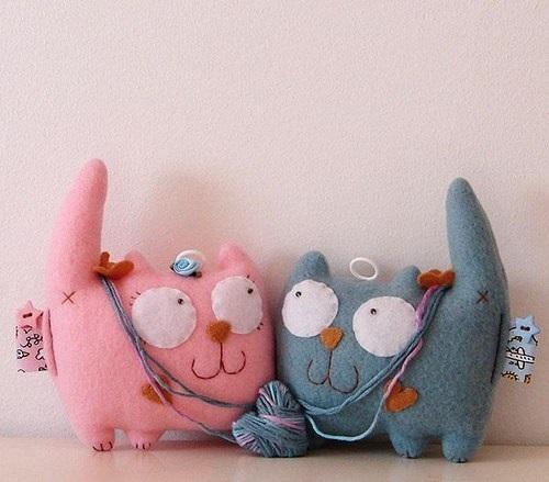 """Мягкая игрушка """"Милые коты"""""""