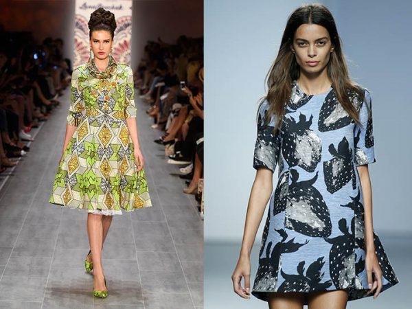 Женские платья украшенные анималистическими принтами