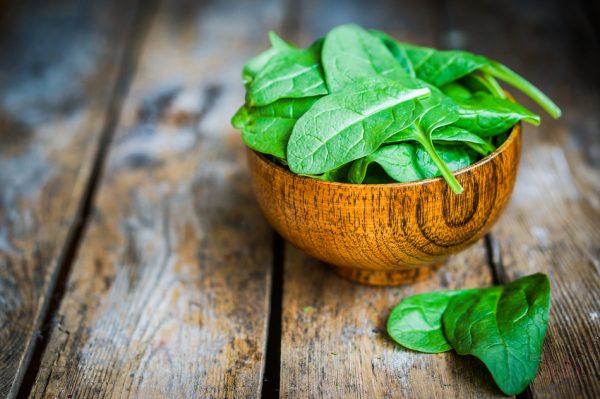 В шпинат входит большое количество витаминов