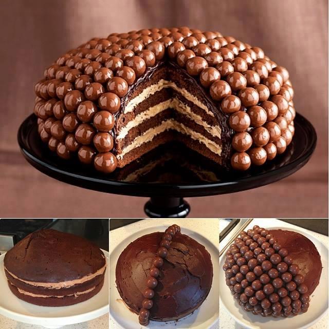 Шоколадное оформление торта