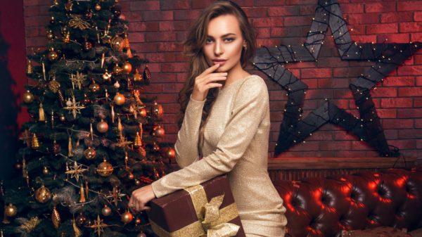 Коктейльное новогоднее платье