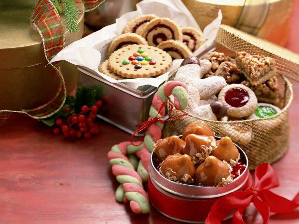 Печенье в виде тросточек