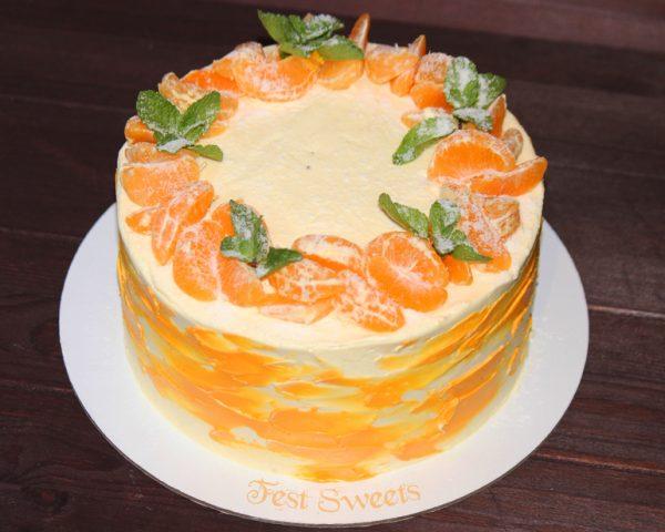 Ароматный мандариновый торт