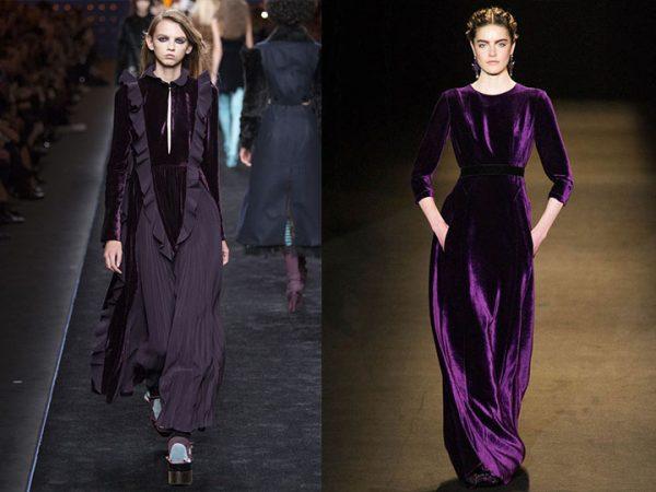 Элегантные бархатные платья