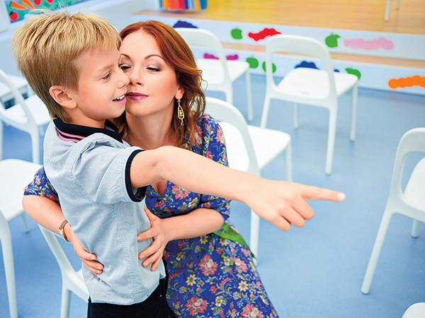 Актриса Ольга Будина с сыном Наумом.