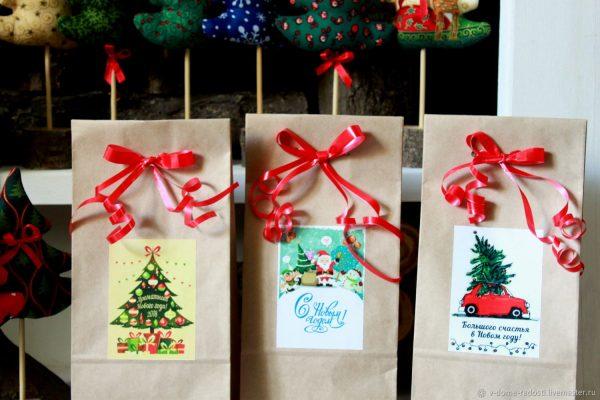 Подарочные пакеты на Новый год