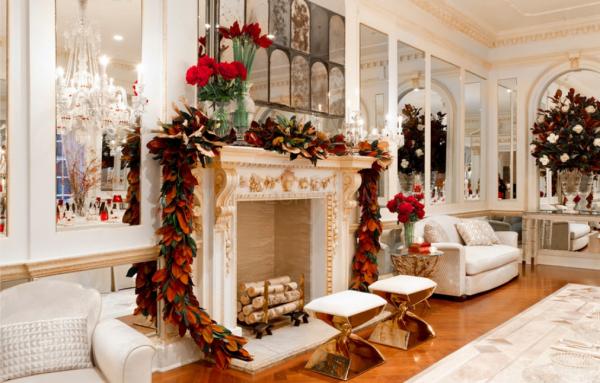 Как украсить камин к Новому году и Рождеству: идеи