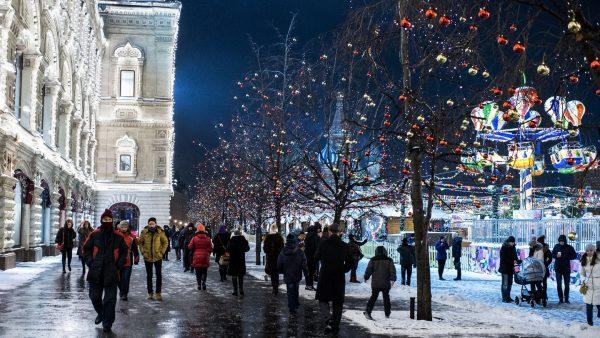 Улицы столицы зимой