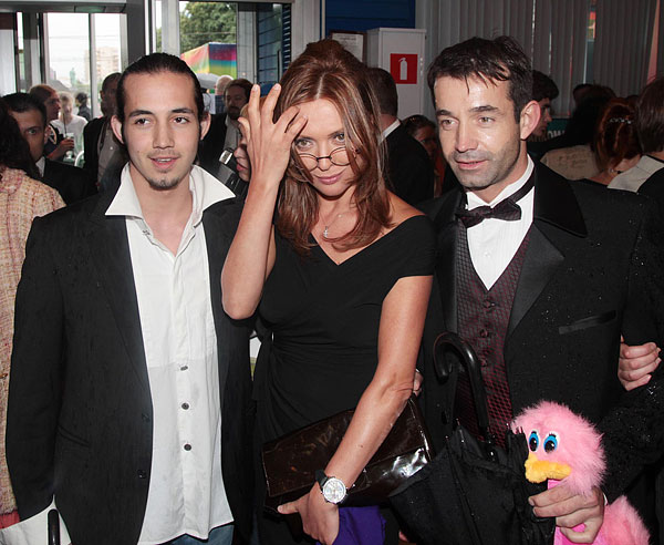 Ольга с мужем Дмитрием и старшим сыном