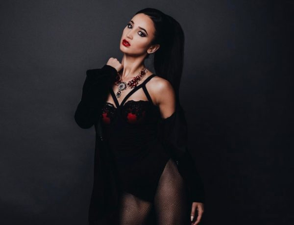 Ольга на съемках нового клипа
