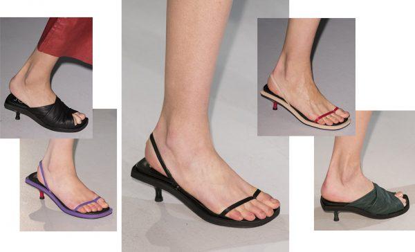 Летняя обувь на маленьком каблуке