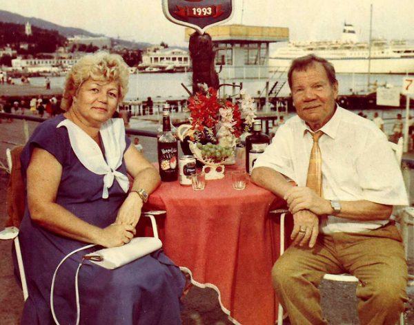 Михаил Пуговкин со своей третьей женой