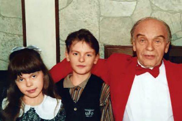 Владимир Шаинский со своими детьми от второго брака
