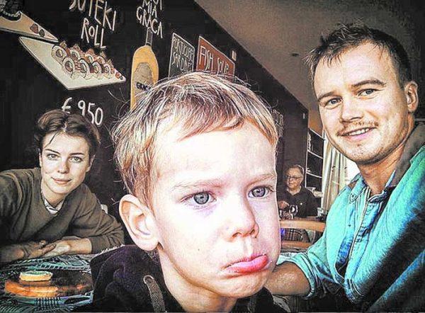 Алексей Бардуков с сыном