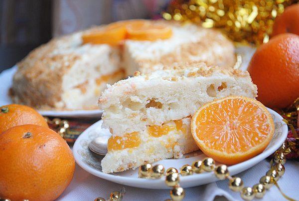 Еще один вариант мандаринового торта