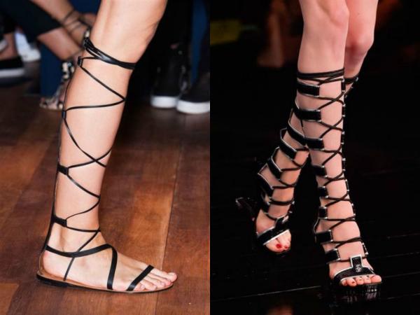 Обувь весна-лето со шнуровкой