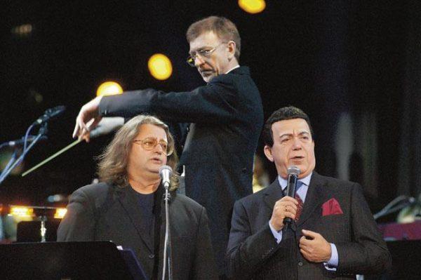 С И. Кобзоном во время выступления