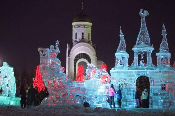 Новогоднее гулянье на Поклонной горе