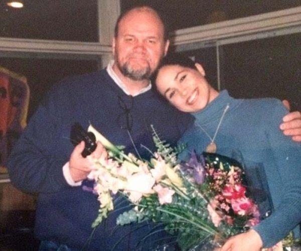 Меган со своим отцом Томасом