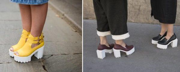 Модная обувь на высокой платформе