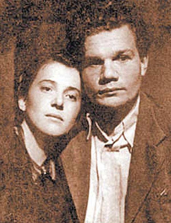 С первой женой Надеждой Надеждиной