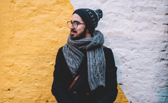 Любимому папе можно связать теплый шарф