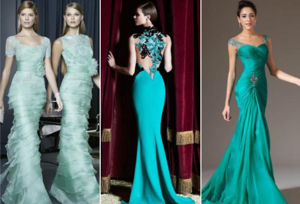 Модные платья зеленых оттенков