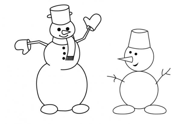Как нарисовать снеговика поэтапно карандашом легко и красиво