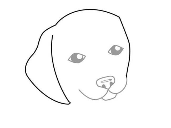 Как нарисовать сидящую собаку - фото 5