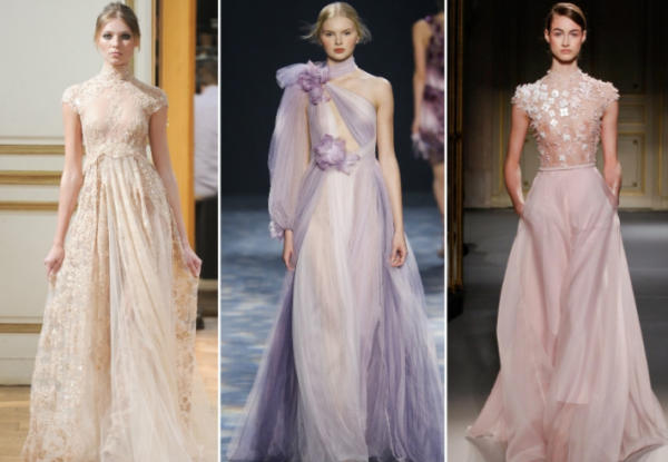 Модные платья из полупрозрачных тканей