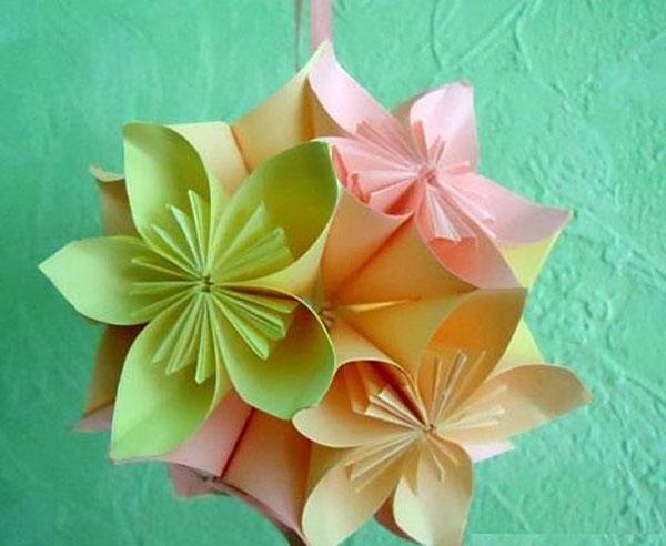Как сделать цветочную кусудаму