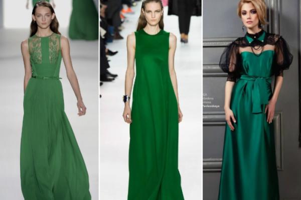 Зеленые платья для Новогоднего вечера