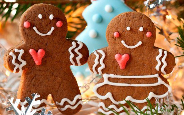 Печенье в виде человечков на Новый год