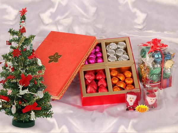 На Новый год супруге можно подарить набор сладостей