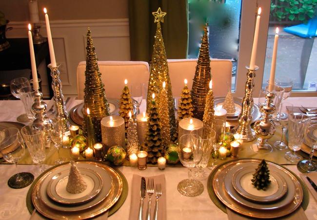 Декорирование множеством свечей