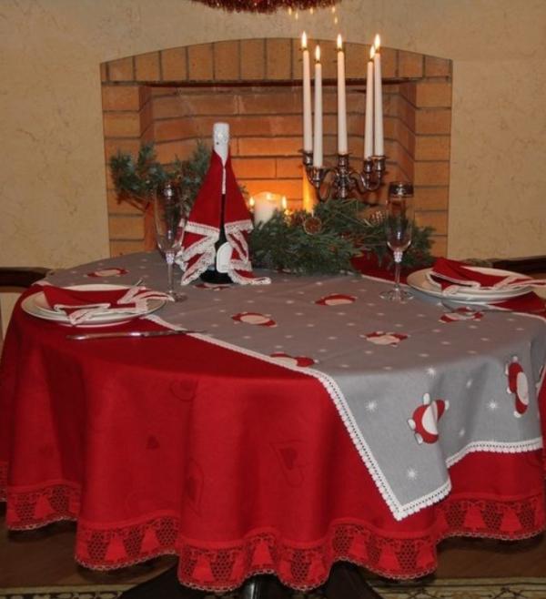 Дед мороз на красном